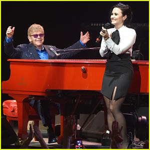 Demi Lovato Sings 'Don't Go Breaking My Heart' With Elton John