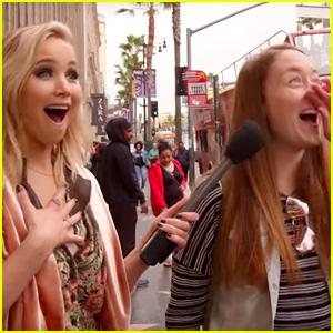 Jennifer Lawrence Surprises Fans on Hollywood Blvd. While Hosting 'Kimmel'